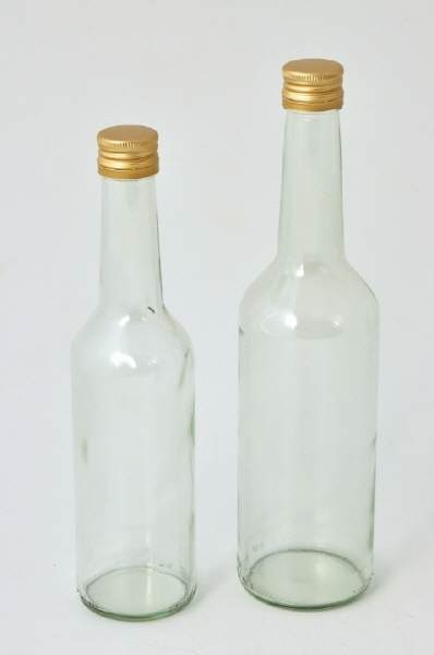 Clear 0,5 L bottle without screw cap
