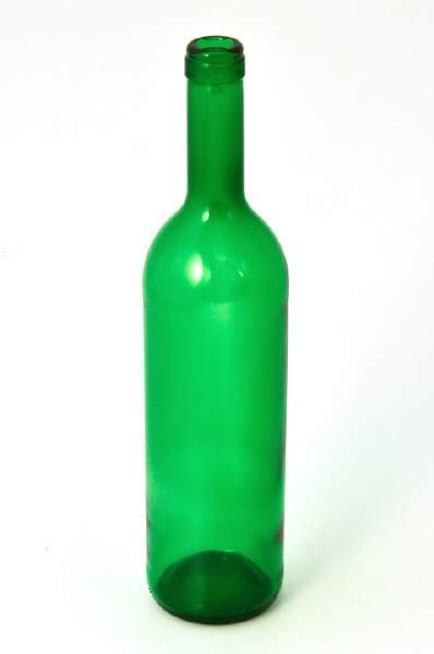 Wine bottle  Bordeaux  green (0,75 L)