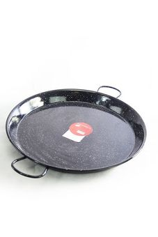 """Vaello"" paella pan (55 cm) black enamel - for up to 16 people"