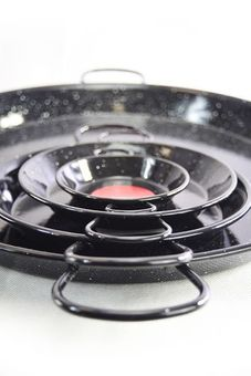 """Vaello"" paella pan (65 cm) - black enamelled"