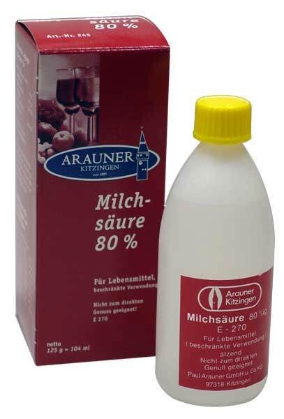Arauner  lactic acid for must 80% 125g