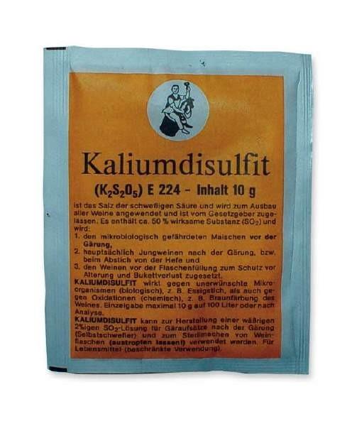Arauner  Potassium Metabisulfite, 10 g