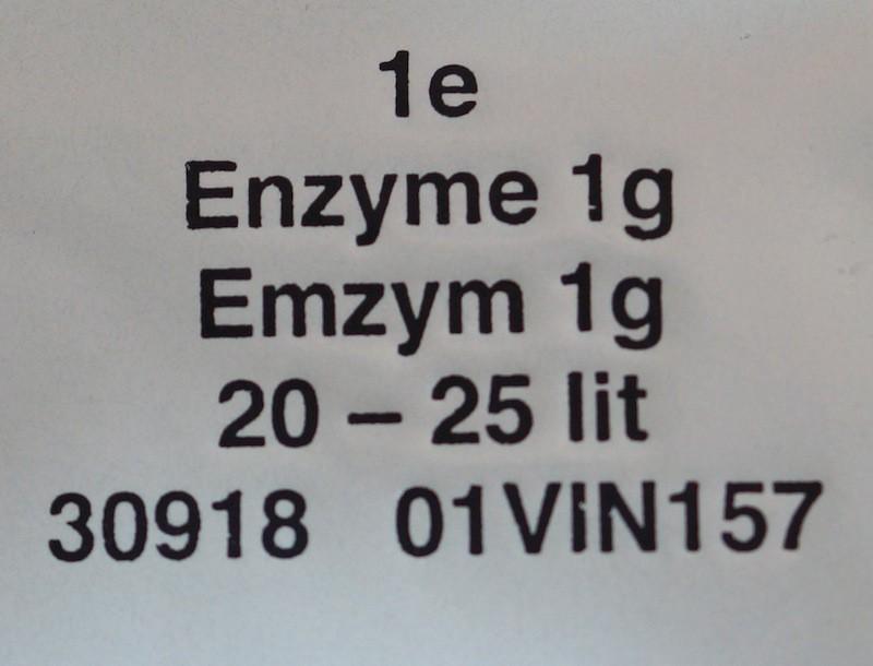 Pektinase zur Verflüssigung von Obstmaischen 1,5 gr Portion für 25 Ltr Maische