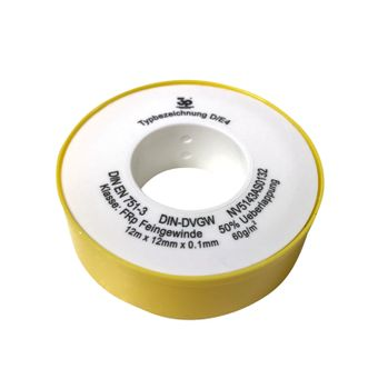 Teflonband - 12 Meter Rolle - PTFE Gewindeabdichtband