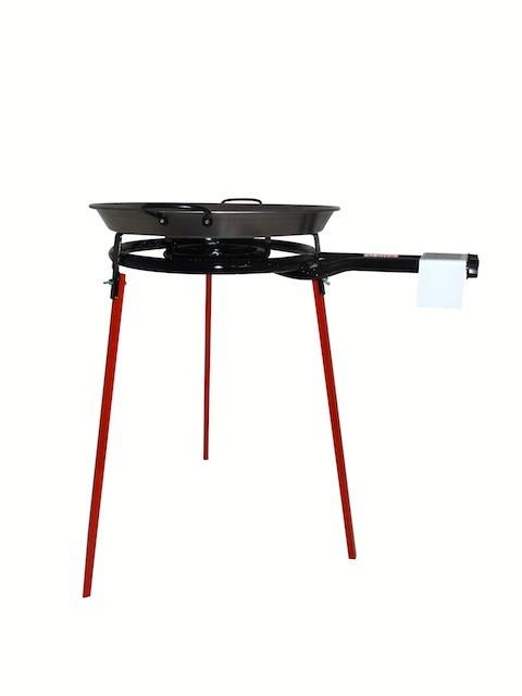 Set  Paella : Brûleur à gaz (40 cm), support et poêle à paella