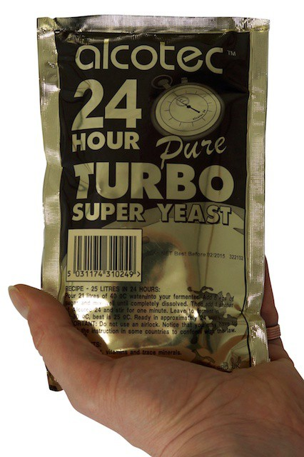 Alcotec turbo yeast 24H - 14 % in 24 hours