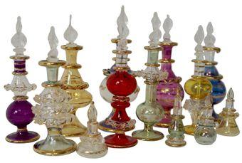Egyptian Perfume Bottle, mixed colours and sizes