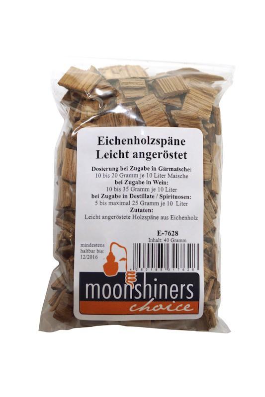 Virutas de madera de roble (40 gramos) ligeramente tostadas de la marca  Moonshiners Choice