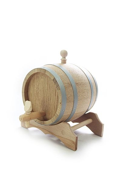 1 L Barrel with wooden stand, European oak wood
