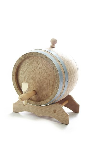 3 L Barrel with wooden stand, European oak wood