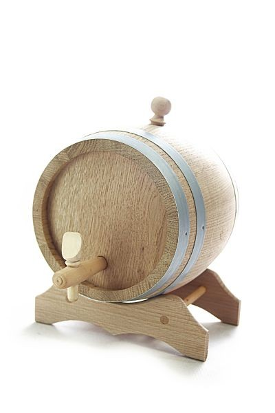 5 L Barrel with wooden stand, European oak wood