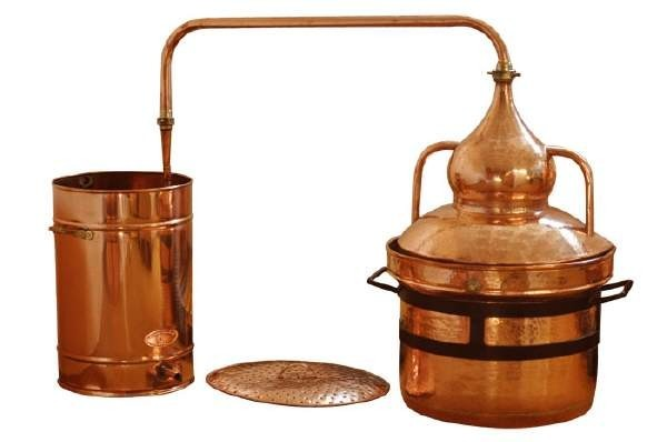 CopperGarden®  Appareil de distillation Alambic 250 L,  Pot Still  à joints hydrauliques