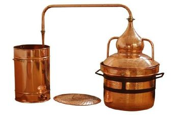 """CopperGarden®"" Appareil de distillation Alambic 250 L, ""Pot Still"" à joints hydrauliques"
