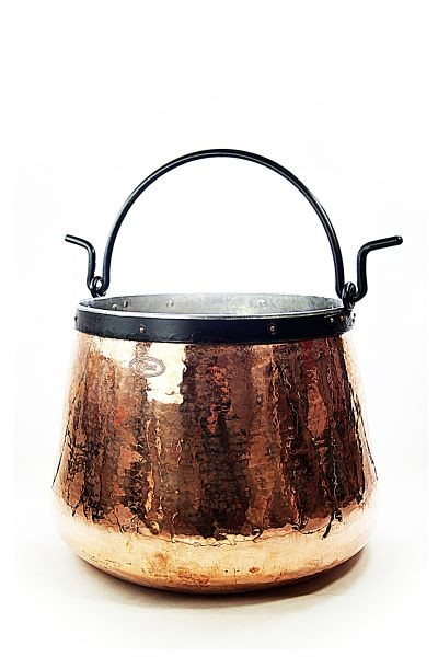 CopperGarden®  Copper cauldron/witches' cauldron, 20 L tin-lined