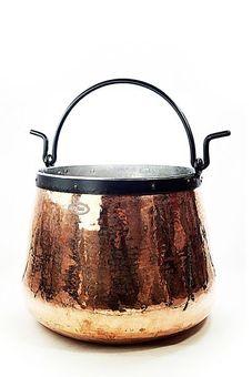"""Chaudron en cuivre 40 L, étamé -  """"CopperGarden®"""""""