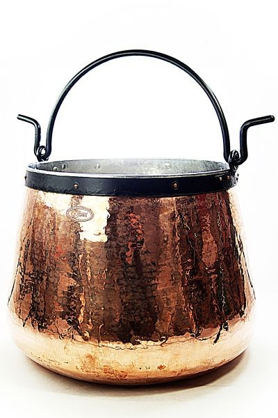CopperGarden®   copper cauldron/witches' cauldron, 60 L tin-lined