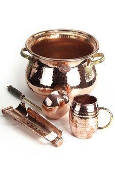 """Kit punch: chaudron 10L & accessoires - """"CopperGarden®"""""""