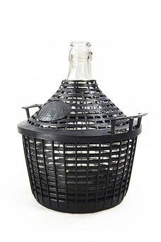 Damajuana de 10 litros con cesta de protección - para almacenamiento y fermentación