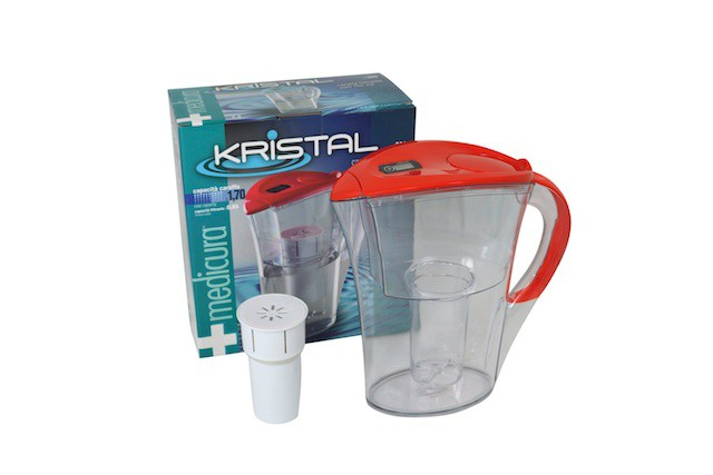 Medicura  water filter - jug & cartridge - red