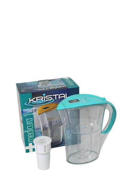 Medicura  water filter - jug & cartridge - blue