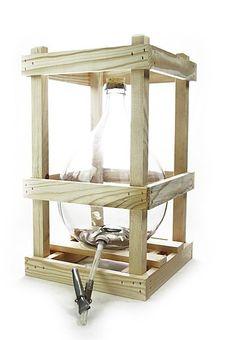 Glasballon im Holzgestell ❀ 10 Liter ❀ mit Ablaufhahn & Korken