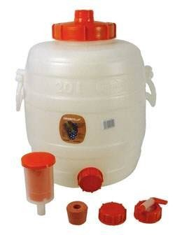 "Set: ""Speidel"" must container 20 liters complete with all fittings"