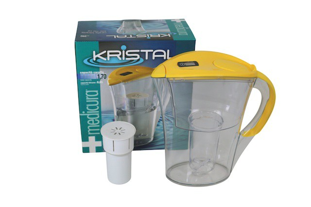 Medicura  water filter - jug & cartridge - yellow