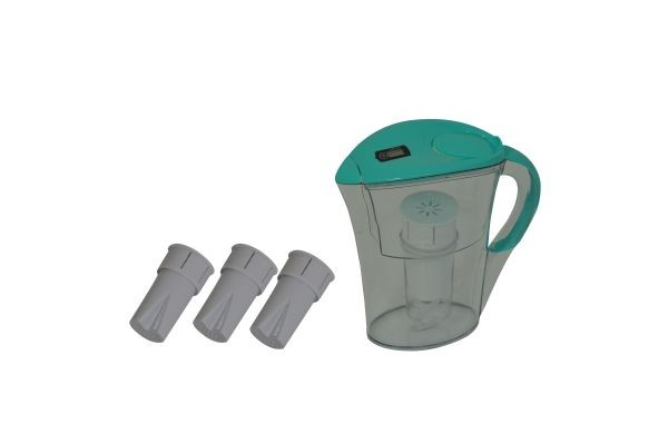 Medicura  water filter, blue, set with 4 cartridges