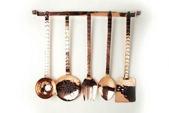 """CopperGarden®"" Kitchen Set with Rack, 5 parts"