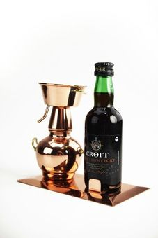 """CopperGarden®"" bottle holder Alquitara on copper base"