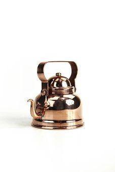 """CopperGarden®"" miniature tea pot for decoration, copper"