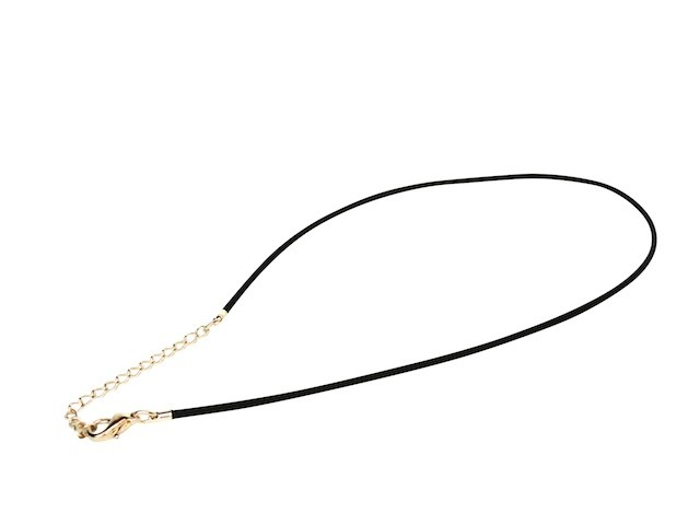 Caoutchouc necklace in black