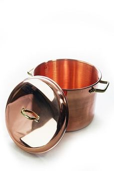 """CopperGarden"" copper pot (12 L) with handles & cover"