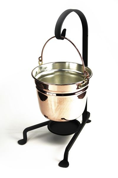 "CopperGarden®""  hanging copper fondue pot, 18 cm"