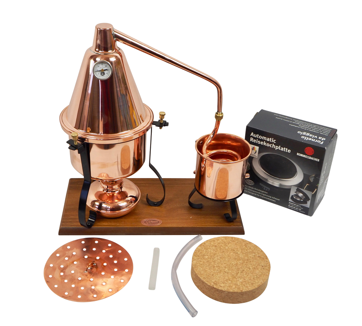 CopperGarden®  Italia 2 L electric distillation apparatus with aroma basket