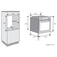 Candy FCPK 626 XL Einbau-Backofen mit Pyrolyse Selbstreinigung, Edelstahl, XL Multifunktion, autark, EEK: A – Bild 3