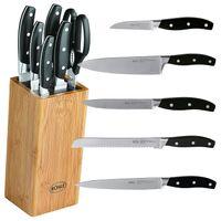 Rösle Bambus Messerblock Cuisine 7-teilig inklusive Messerset und Küchenschere
