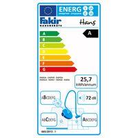 Fakir HANS Eco Boden Staubsauger LED-Anzeige inkl. Parkettdüse, schwarz, EEK: A – Bild 5
