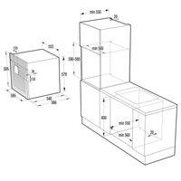Gorenje by Starck BO 547 ST Kompakt Einbau Backofen mit Grill und Heißluft, Breite 60 cm, EEK: A+ – Bild 4