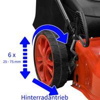 Güde 95392 Benzin Rasenmäher ECO WHEELER TRIKE 410, Hinterradantrieb, 6fach Schnitthöhenverstellung – Bild 2