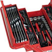 Holzmann WZK 86CrV Profi Metall Werkzeugkasten 86 teilig, voll bestückt mit Werkzeug, passgenaue Einlagen – Bild 2