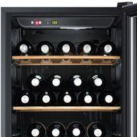 Hausmarke Weinkühlschrank für bis zu 59 Weinflaschen, Temperierschrank, Weinkühler, Türschloß, LED-Display, Anti-Vibrationskompressor, EEK: A – Bild 4
