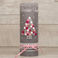Rustik Weihnachtskerze mit Kugel-Weihnachtsbaum 001