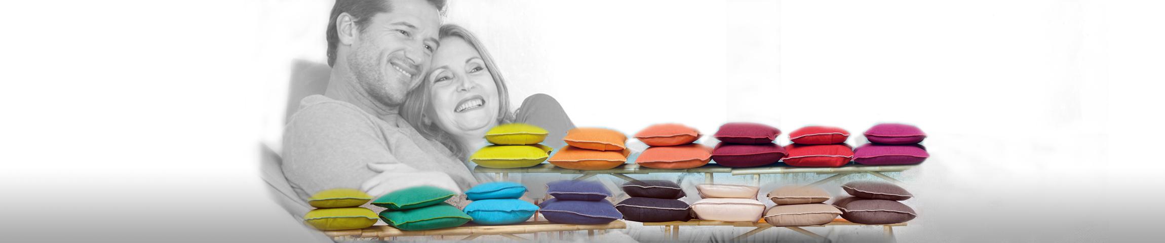 Bringen Sie Farbe in Ihr Leben... zu unserer großen Kissenwelt >>>>>