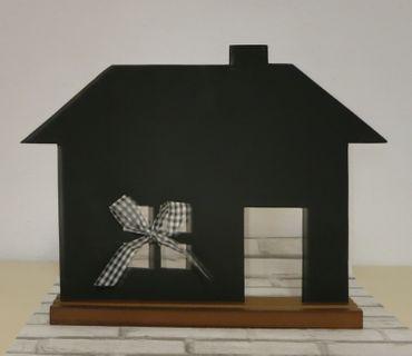 Kreidetafel Tafel Haus zum Beschriften ca 35 x 45 cm Memoboard schwarz – Bild 2