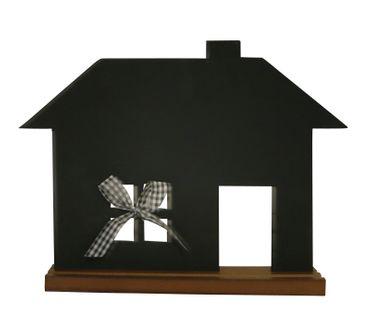 Kreidetafel Tafel Haus zum Beschriften ca 35 x 45 cm Memoboard schwarz – Bild 1