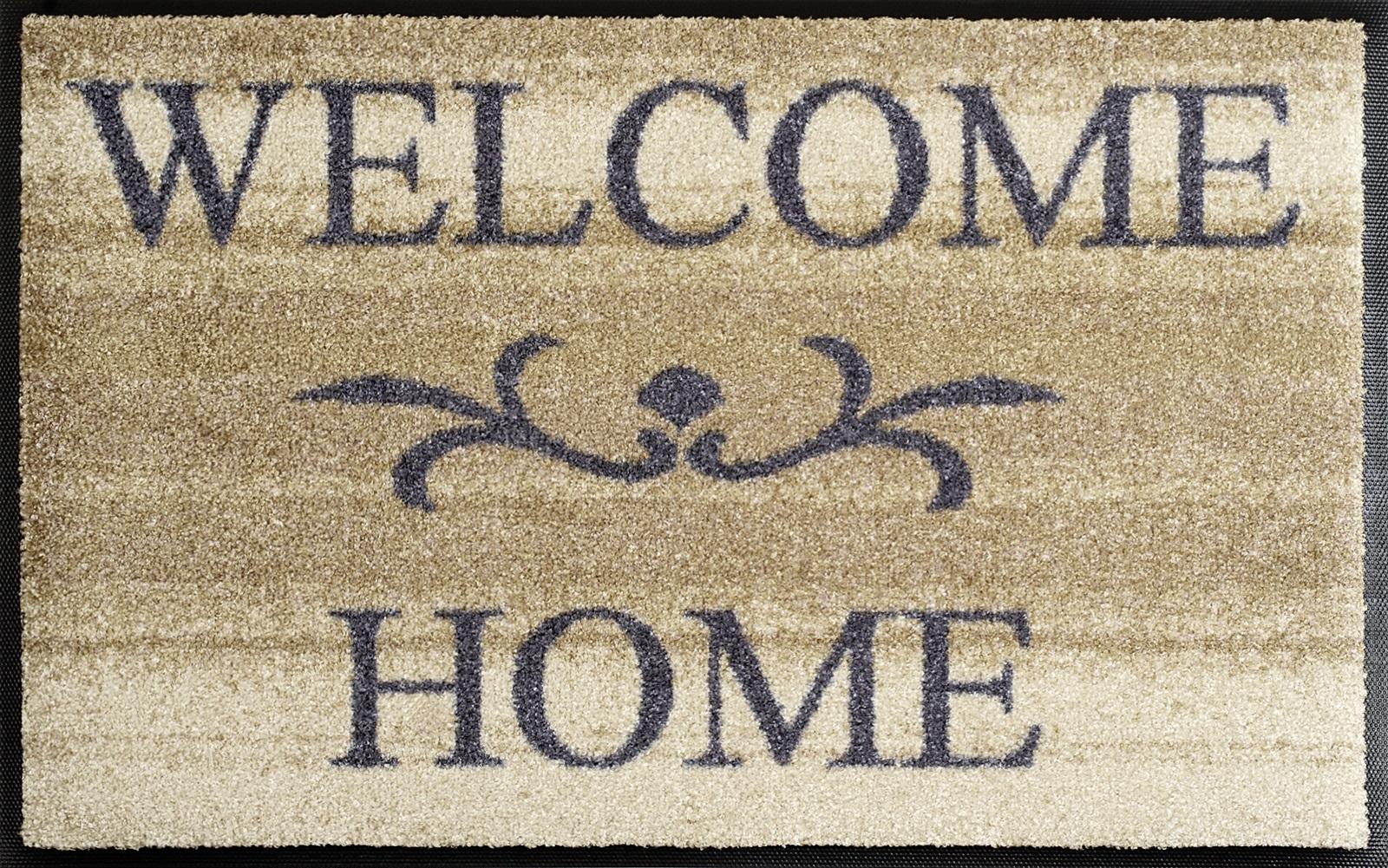 waschbare fu matte welcome home 50x75 cm. Black Bedroom Furniture Sets. Home Design Ideas