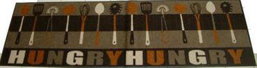 Teppich-Läufer Hungry braun 60x180 cm  waschbare Fußmatte Küchenmatte  – Bild 1