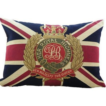 Gobelinkissen - Her Royal Highness - Dekokissen Union Jack Flag