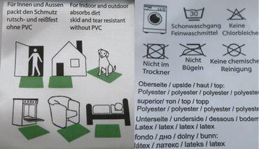 waschbare Fußmatte - Alpen Hirsch - Edelweiß - Fußabtreter Türmatte – Bild 3